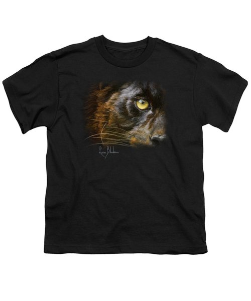 Eye Of The Panther Youth T-Shirt by Lucie Bilodeau