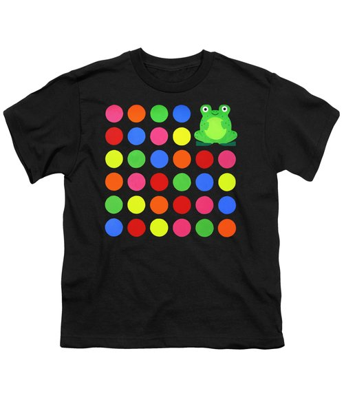 Discofrog Remix Youth T-Shirt by Oliver Johnston