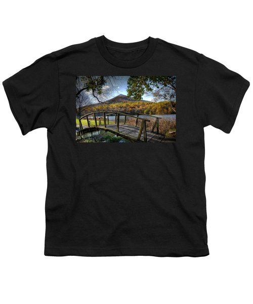 Foot Bridge Youth T-Shirt by Todd Hostetter