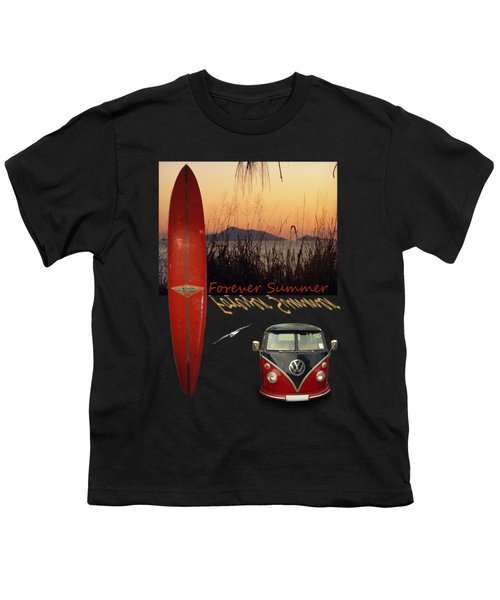 Forever Summer 1 Youth T-Shirt by Linda Lees