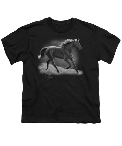 Free - Black And White Youth T-Shirt by Lucie Bilodeau