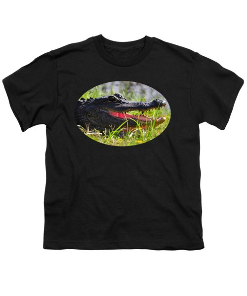 Gator Grin .png Youth T-Shirt by Al Powell Photography USA