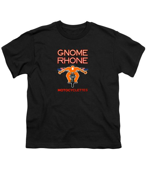Gnome Rhone Motorcycles Youth T-Shirt by Mark Rogan