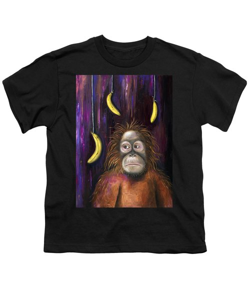 Going Bananas Youth T-Shirt by Leah Saulnier The Painting Maniac