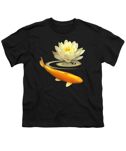 Golden Harmony Square Youth T-Shirt by Gill Billington