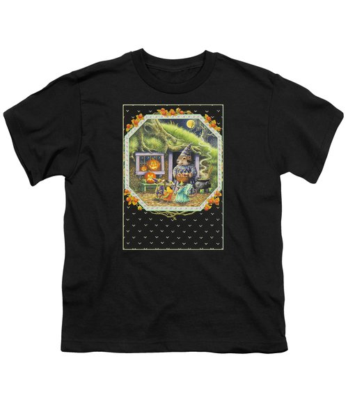 Halloween Treats Youth T-Shirt by Lynn Bywaters