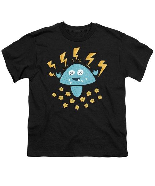 Heavy Metal Mushroom Youth T-Shirt by Boriana Giormova