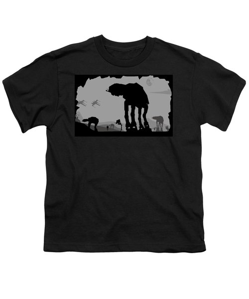 Hoth Machines Youth T-Shirt by Michael Bergman