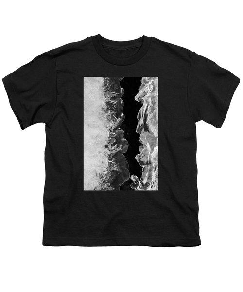 Icy Waves Youth T-Shirt by Konstantin Sevostyanov