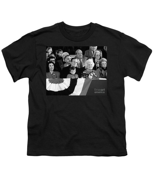 Inauguration Of George Bush Sr Youth T-Shirt by H. Armstrong Roberts/ClassicStock