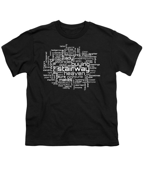 Led Zeppelin - Stairway To Heaven Lyrical Cloud Youth T-Shirt by Susan Maxwell Schmidt