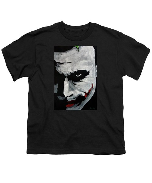 Ledger's Joker Youth T-Shirt by Dale Loos Jr