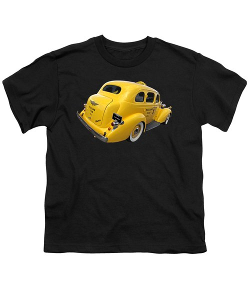 Let's Ride - Studebaker Yellow Cab Youth T-Shirt by Gill Billington