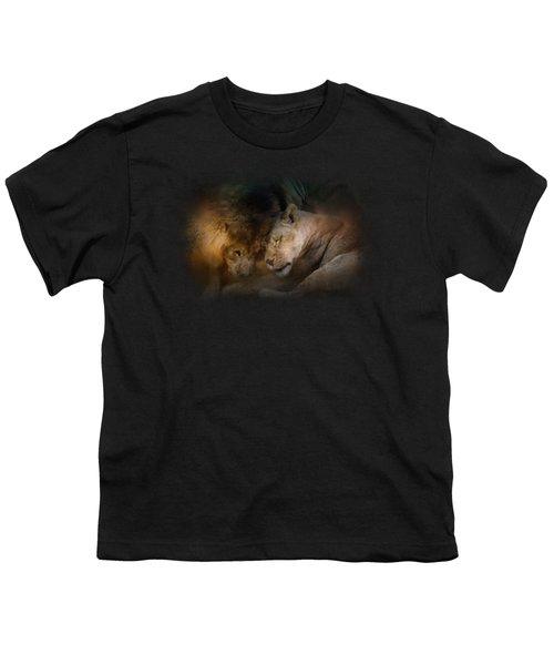 Lion Love Youth T-Shirt by Jai Johnson
