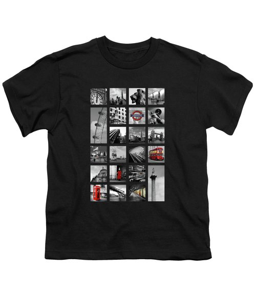 London Squares Youth T-Shirt by Mark Rogan