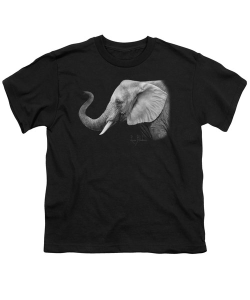Lucky - Black And White Youth T-Shirt by Lucie Bilodeau
