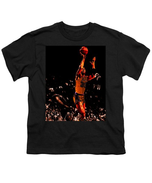 Magic Johnson Lean Back II Youth T-Shirt by Brian Reaves