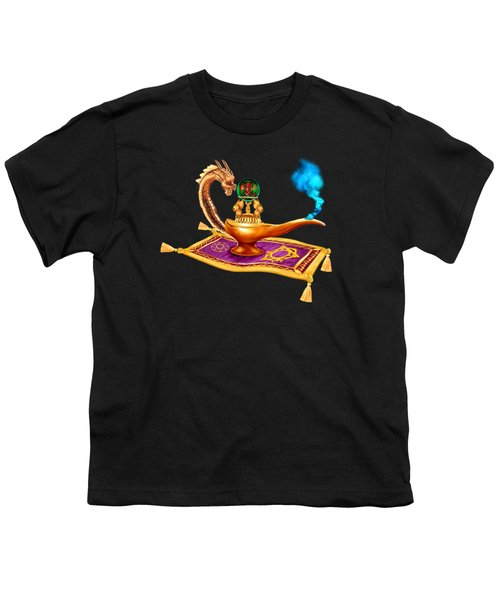 Magical Dragon Lamp Youth T-Shirt by Glenn Holbrook