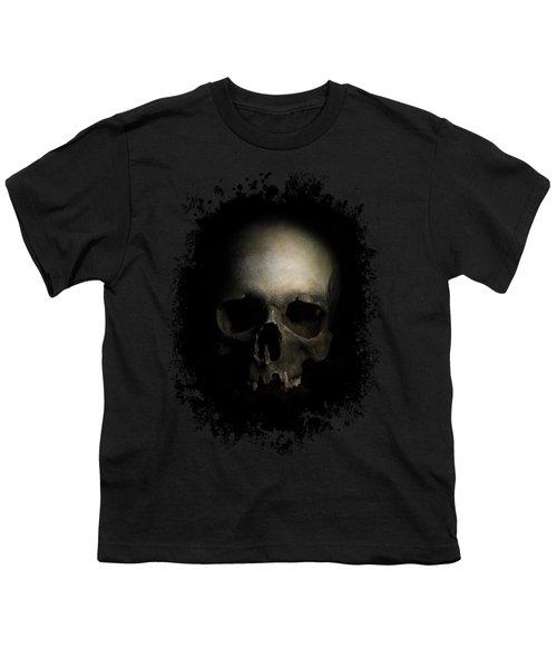 Male Skull Youth T-Shirt by Jaroslaw Blaminsky