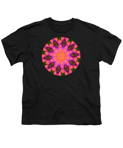 Mandala Salmon Burst Youth T-Shirt by Hao Aiken