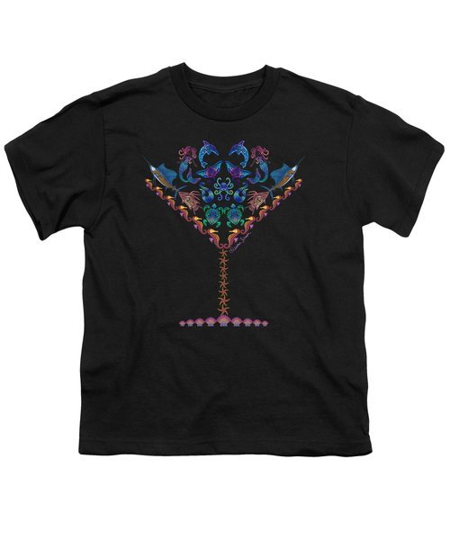 Marine Martini Youth T-Shirt by Heather Schaefer