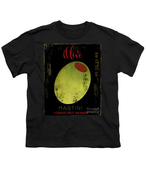 Martini Olive Youth T-Shirt by Mindy Sommers