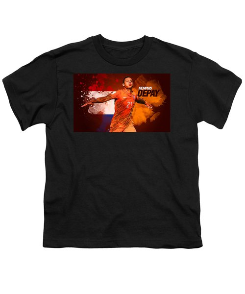 Memphis Depay Youth T-Shirt by Semih Yurdabak