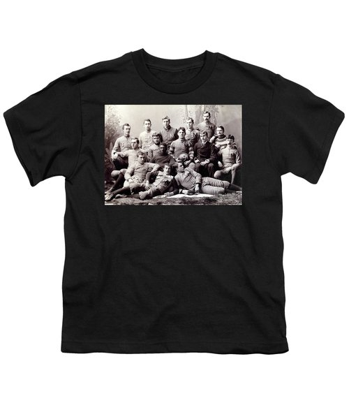 Michigan Wolverine Football Heritage 1890 Youth T-Shirt by Daniel Hagerman