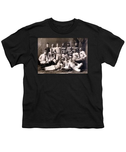 Michigan Wolverines Football Heritage 1888 Youth T-Shirt by Daniel Hagerman
