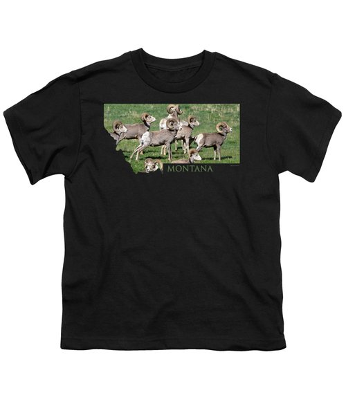 Montana -bighorn Rams Youth T-Shirt by Whispering Peaks Photography
