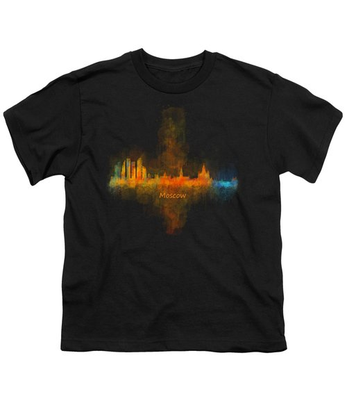 Moscow City Skyline Hq V4 Youth T-Shirt by HQ Photo