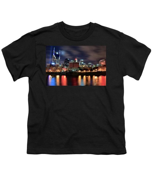 Nashville Skyline Youth T-Shirt by Frozen in Time Fine Art Photography