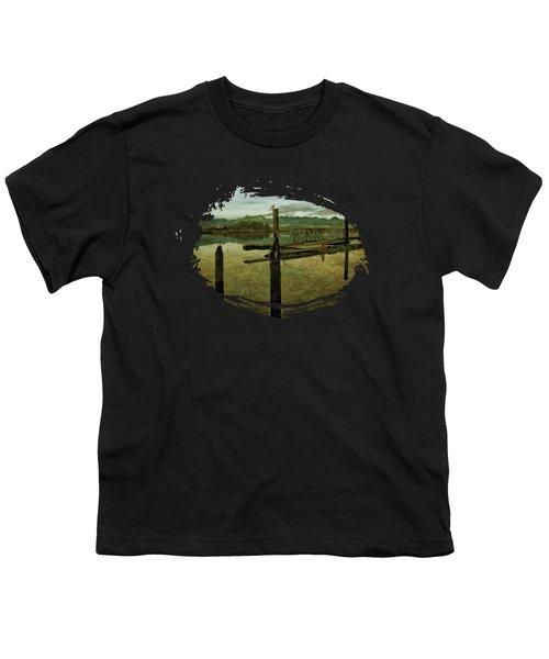Nehalem Bay Reflections Youth T-Shirt by Thom Zehrfeld