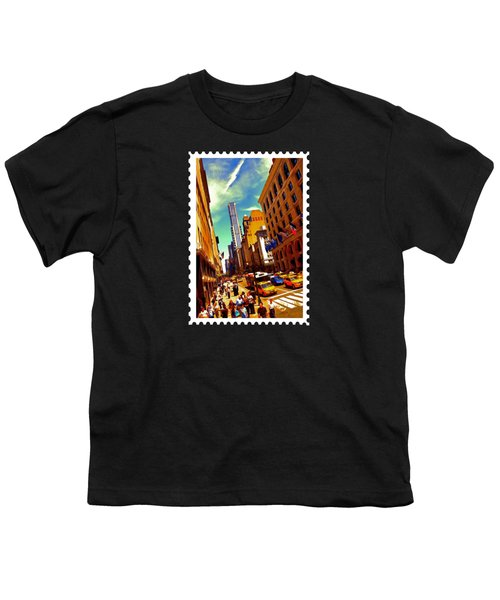 New York City Hustle Youth T-Shirt by Elaine Plesser