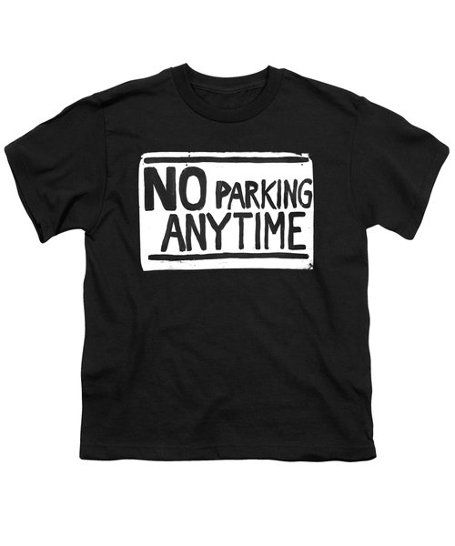 No Parking Youth T-Shirt by H James Hoff