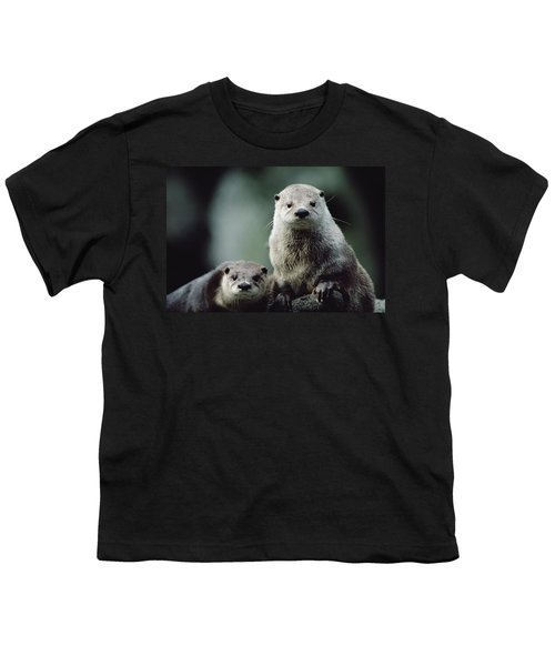 North American River Otter Lontra Youth T-Shirt by Gerry Ellis