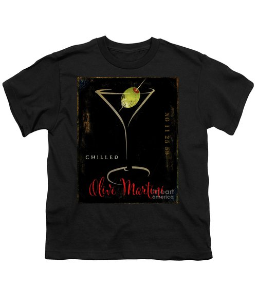 Olive Martini Youth T-Shirt by Mindy Sommers