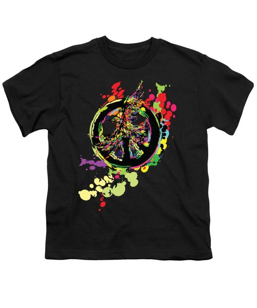 Peace And Peace Youth T-Shirt by Cindy Shim