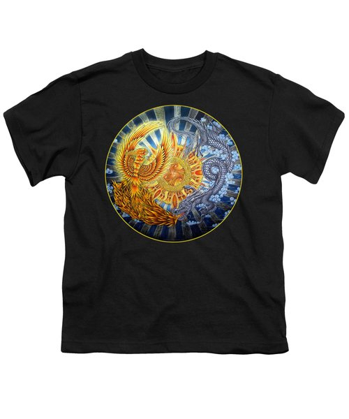 Phoenix And Dragon Youth T-Shirt by Rebecca Wang