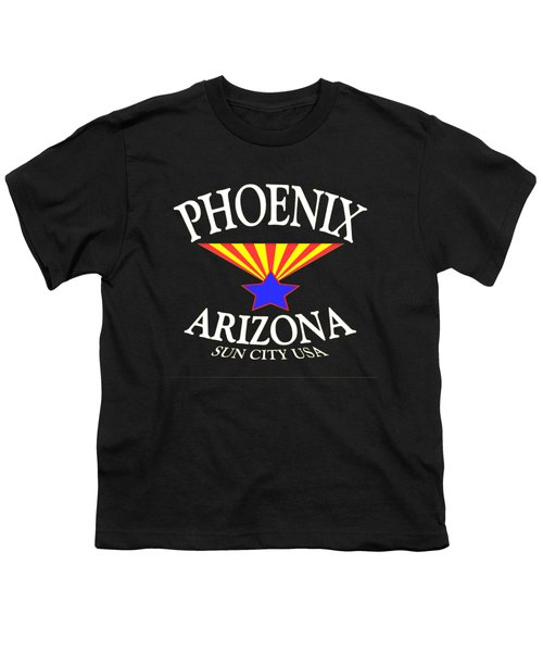 Phoenix Arizona Tshirt Design Youth T-Shirt by Art America Online Gallery