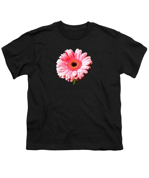 Pink Gerbera Youth T-Shirt by Scott Carruthers