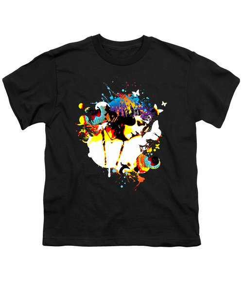 Poetic Peacock Youth T-Shirt by Chris Andruskiewicz