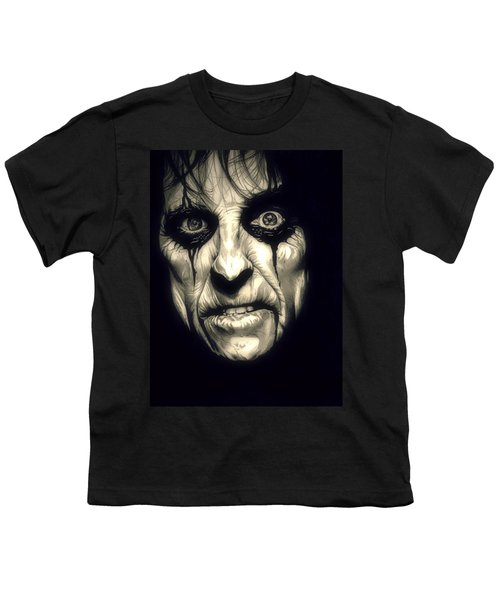 Poison Alice Cooper Youth T-Shirt by Fred Larucci