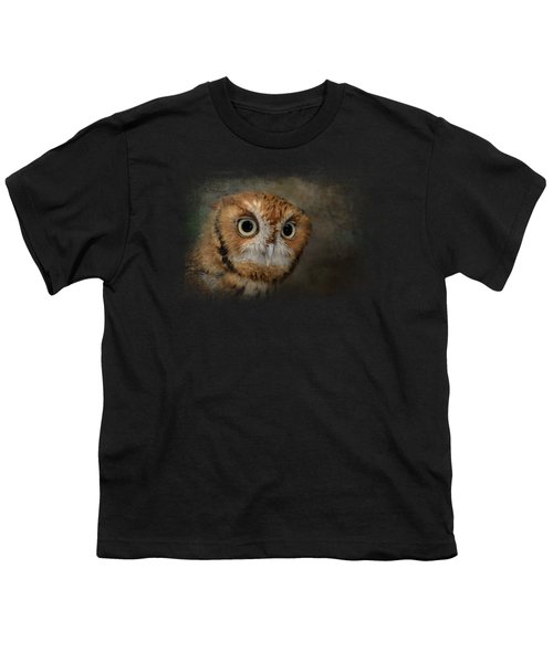 Portrait Of An Eastern Screech Owl Youth T-Shirt by Jai Johnson