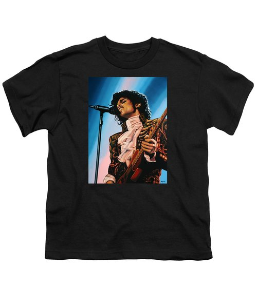 Prince Painting Youth T-Shirt by Paul Meijering