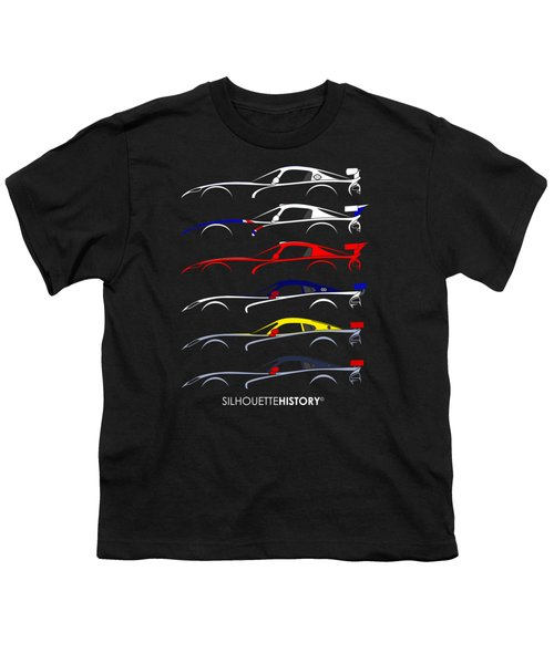 Racing Snake Silhouettehistory Youth T-Shirt by Gabor Vida