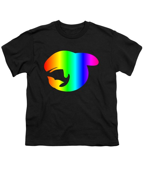 Rainbow Whale Youth T-Shirt by Frederick Holiday