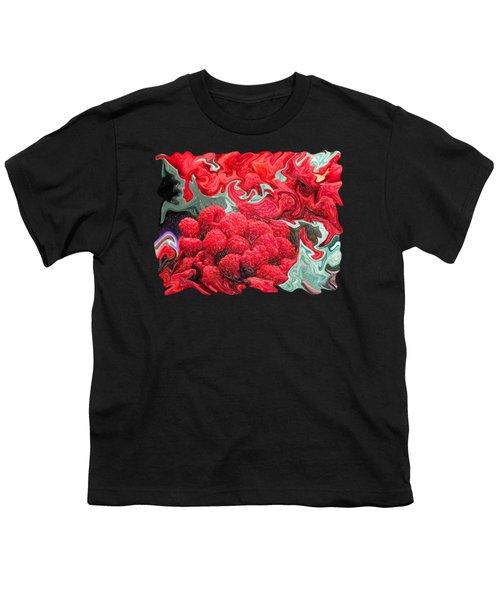 Raspberries Youth T-Shirt by Kathy Moll