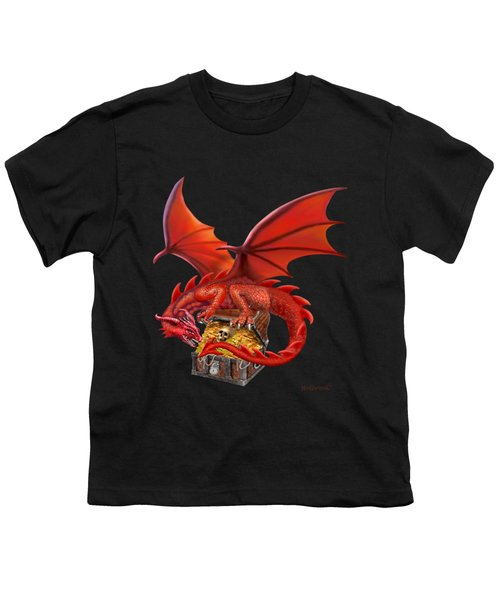 Red Dragon's Treasure Chest Youth T-Shirt by Glenn Holbrook