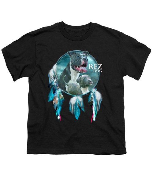 Rez Dog Cover Art Youth T-Shirt by Carol Cavalaris